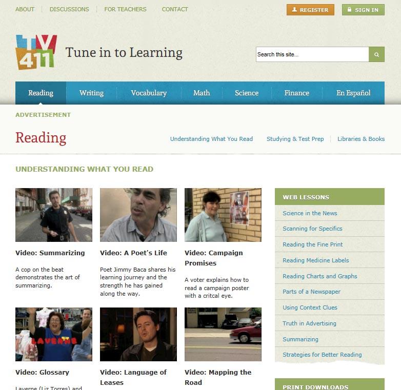 TV 411 Reading