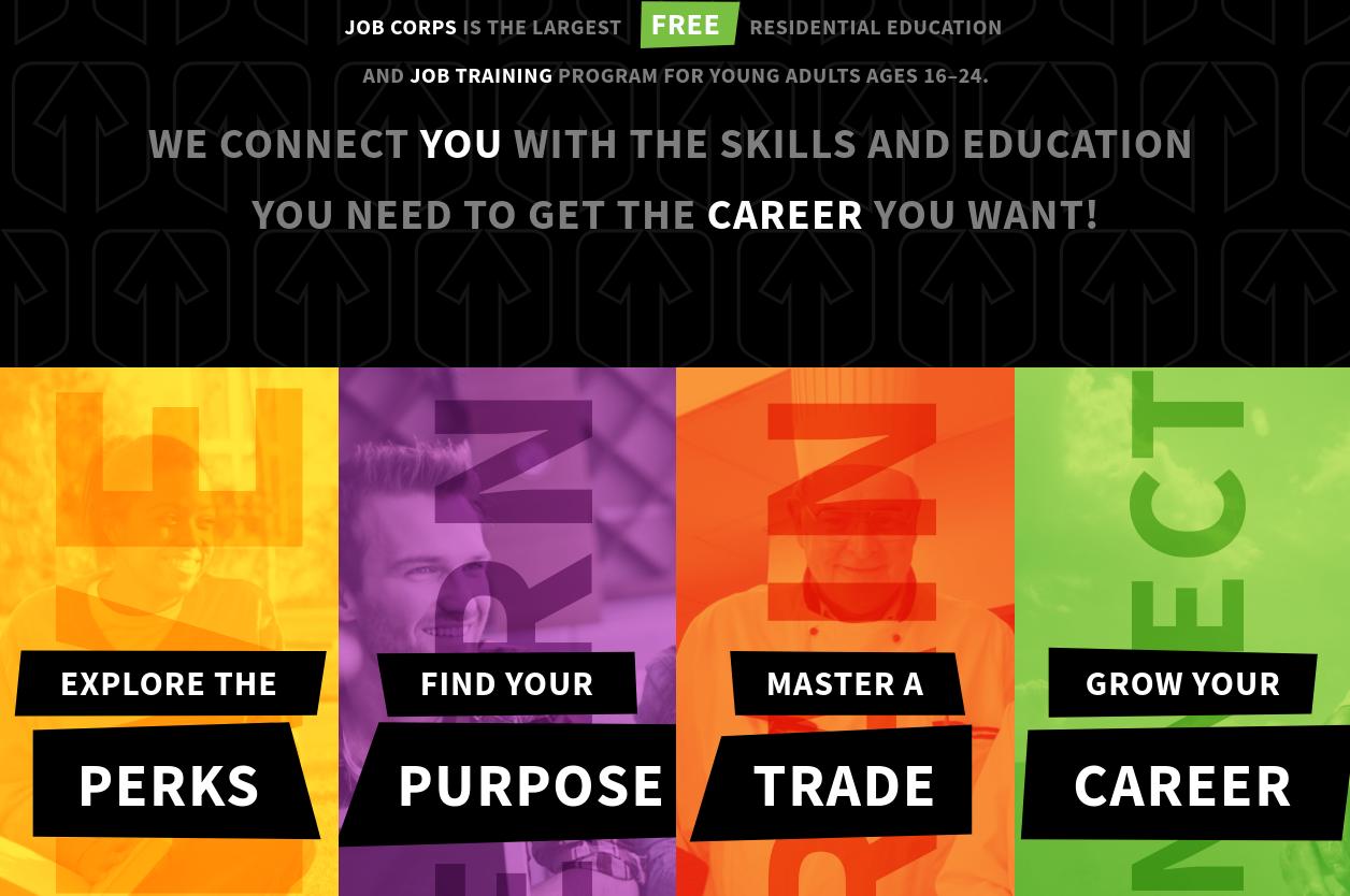 captura de pantalla: sitio web de Job Corps