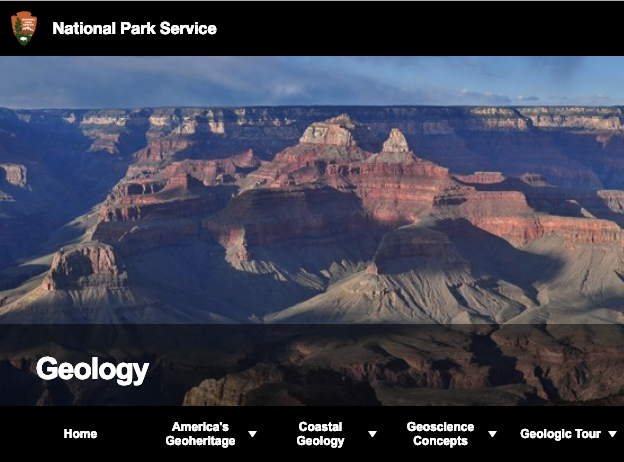 national park service geology page