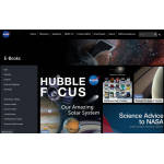 screen capture: NASA science e-books web page