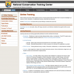 national conservation training center website screenshot