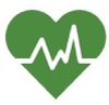 Image of a heart with an EKG readout on it, representing Health Literacy