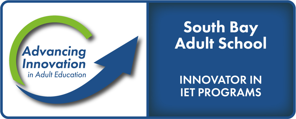 Advancing Innovation in Adult Education Logo, South Bay Adult School, Innovator in Bridge Programs