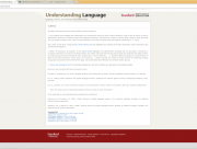 Decorative image for Resource Profile Stanford University's Understanding Language Resources: Science