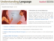 Decorative image for Resource Profile Stanford University's Understanding Language: Teaching Resources for Mathematics