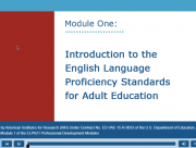 Decorative image for Resource Profile Introduction to the English Language Proficiency Standards for Adult Education - Module One