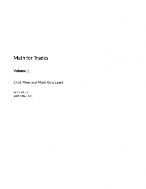 Math for Trades, Volume 1
