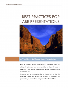 Decorative image for Resource Profile Best Practices for ABE Presentations