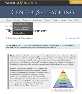 Decorative image for Resource Profile Flipping the Classroom