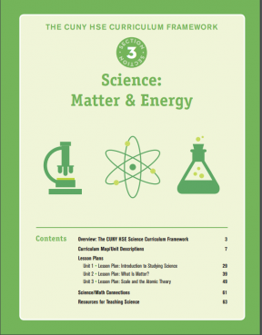 Decorative image for Resource Profile The CUNY HSE Curriculum Framework--Science: Matter & Energy