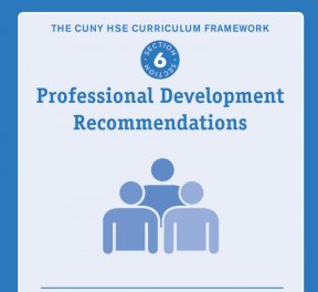 Decorative image for Resource Profile The CUNY HSE Curriculum Framework--Professional Development Recommendations