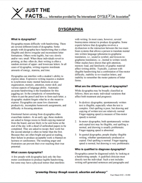 Decorative image for Resource Profile Dysgraphia Fact Sheet