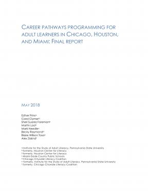 Decorative image for Resource Profile Career Pathways Programming for Adult Learners in Chicago, Houston, and Miami: Final Report