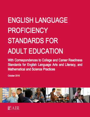 Decorative image for Resource Profile English Language Proficiency Standards for Adult Education