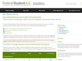 Decorative image for Resource Profile Federal Student Aid Resources