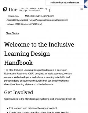 Decorative image for Resource Profile FLOE Inclusive Learning Design Handbook