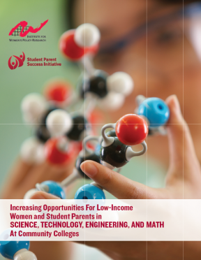 Decorative image for Resource Profile Increasing Opportunities for Low-Income Women and Student Parents in Science, Technology, Engineering, and Math at Community Colleges