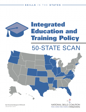 Decorative image for Resource Profile Integrated Education and Training Policy: 50-STATE SCAN