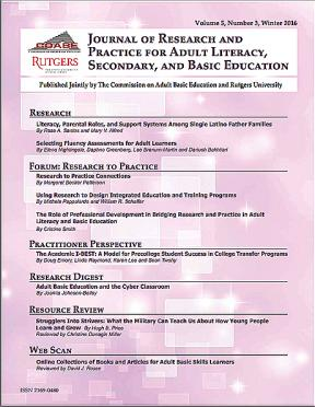 Decorative image for Resource Profile Journal of Research and Practice for Adult Literacy, Secondary, and Basic Education, Vol. 5, No. 3, Winter 2016
