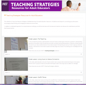 Decorative image for Resource Profile KET: Teaching Strategies: Resources for Adult Educators