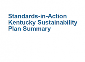 Decorative image for Resource Profile Kentucky Standards-in-Action Sustainability Plan Summary