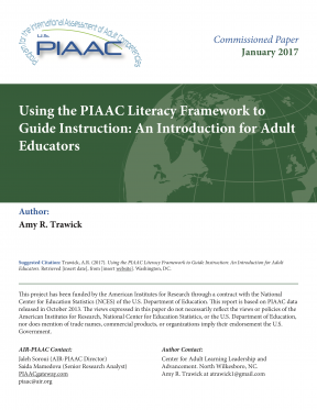 Decorative image for Resource Profile Using the PIAAC Literacy Framework to Guide Instruction: An Introduction for Adult Educators