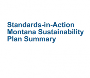 Decorative image for Resource Profile Montana Standards-in-Action Sustainability Plan Summary