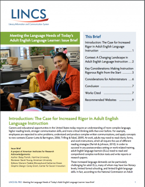 Decorative image for Resource Profile Meeting the Language Needs of Today's Adult English Language Learner: Issue Brief