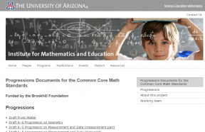 Decorative image for Resource Profile Progressions for the Common Core State Standards in Mathematics (draft)