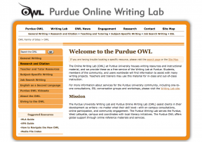 decorative image for resource profile purdue online writing lab owl