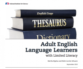 Decorative image for Resource Profile Adult English Language Learners with Limited Literacy