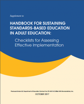Decorative image for Resource Profile Supplement to the Handbook for Sustaining Standards-Based Education in Adult Education: Checklists for Assessing Effective Implementation