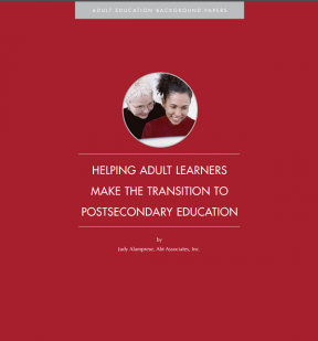 Decorative image for Resource Profile Helping Adult Learners Make the Transition to Postsecondary Education