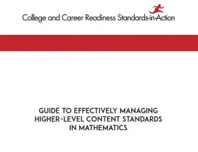 Decorative image for Resource Profile Guide to Effectively Managing Higher-Level Content Standards in Mathematics