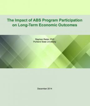 Decorative image for Resource Profile The Impact of ABS Program Participation on Long-Term Economic Outcomes
