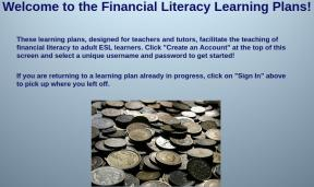 Decorative image for Resource Profile Financial Literacy Learning Plans