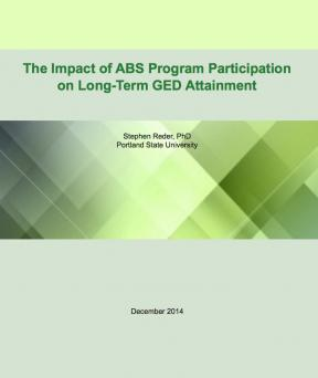Decorative image for Resource Profile The Impact of ABS Program Participation on Long-Term GED Attainment