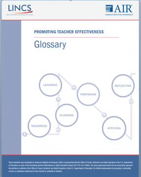 Decorative image for Resource Profile Teacher Effectiveness Glossary