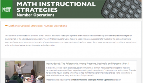 Decorative image for Resource Profile KET: Math Instructional Strategies