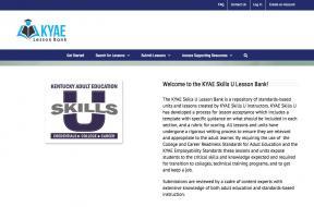 Decorative image for Resource Profile KYAE Skills U Lesson Bank