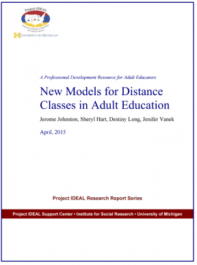 Decorative image for Resource Profile New Models for Distance Classes in Adult Education