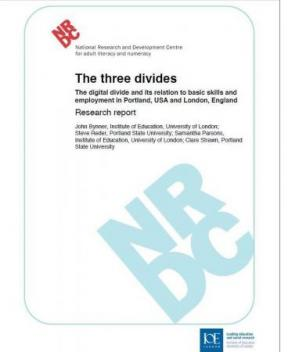 Decorative image for Resource Profile The three divides: The digital divide and its relation to basic skills and employment in Portland, USA and London, England.