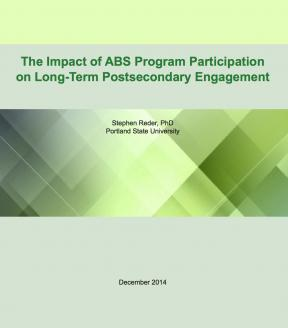 Decorative image for Resource Profile The Impact of ABS Program Participation on Long-Term Postsecondary Engagement