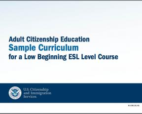 Decorative image for Resource Profile Adult Citizenship Education Sample Curriculum for a Low Beginning ESL Level Course