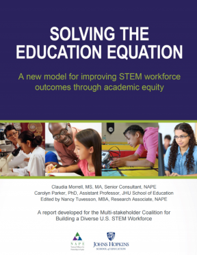 Decorative image for Resource Profile Solving the Education Equation: A New Model for Improving STEM Workforce Outcomes Through Academic Equity