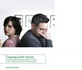 Decorative image for Resource Profile Coping with Stress: A Special Addition to Staying Healthy - An English Learner's Guide to Health Care and Healthy Living (Teacher's Guide and Student Resource Book)