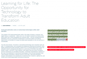 Decorative image for Resource Profile Learning for Life: The Opportunity for Technology to Transform Adult Education