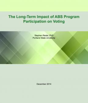 Decorative image for Resource Profile The Long-Term Impact of ABS Program Participation on Voting