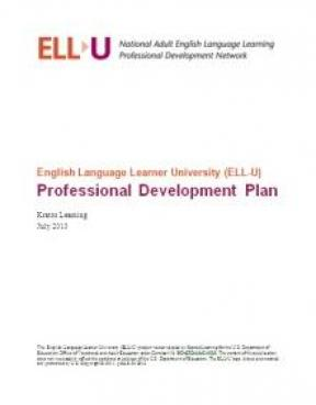 Decorative image for Resource Profile English Language Learner University (ELL-U) Professional Development Plan