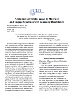 Decorative image for Resource Profile Academic Diversity: Ways to Motivate and Engage Students with Learning Disabilities